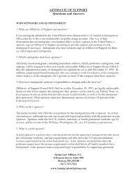 Affidavit Of Support Immigration Affidavit Letter Sample Bagnas Affidavit Of Support 6