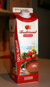 Cena gazpacho andaluz