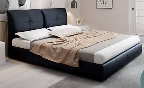 Gorgeous PU Leather Bed Frame with Super Soft Cushion