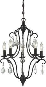elk 31814 5 chandette oil rubbed bronze mini chandelier lamp loading zoom