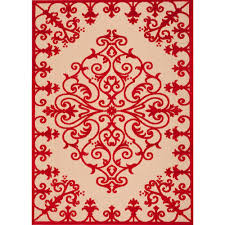 nourison aloha red 10 ft x 13 ft indoor outdoor area rug 243058 the home depot