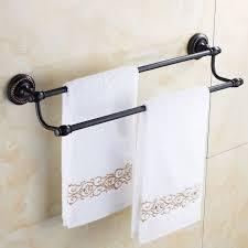 luxury towel bars double rails brass