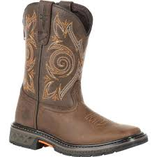 Georgia Boot Carbo Tec Little Kids Brown Pull On Boot