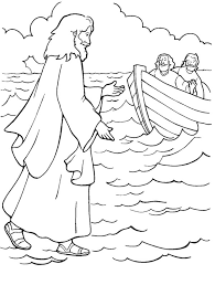 Small Picture One of Miracles of Jesus is Walking on Water Coloring Page