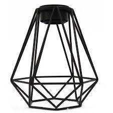 portfolio ravensport 8 8 in h 8 in w black wire geometric pendant light shade