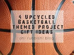 4 upcycled basketball themed project gift ideas