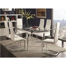 Modern dining room tables Italian Contemporary Dining Room Set Value City Furniture Coaster Modern Dining Piece White Table White Upholstered Chairs