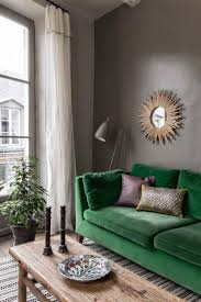 Best 25+ Green Sofa Ideas On Pinterest   Green Living Room Sofas Regarding Emerald  Green