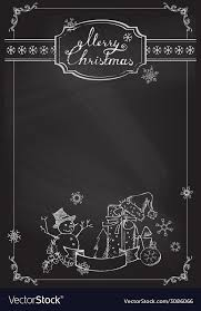 Chalkboard Background Christmas Chalkboard Background Royalty Free Vector Image