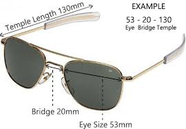 How To Properly Size Your Sunglasses Lens Frame Sizes