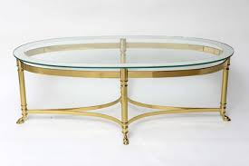 oval size glass table coffee