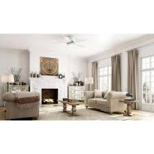 ceiling fans with lights for living room. LED Indoor White Ceiling Fan With Light Kit Fans Lights For Living Room