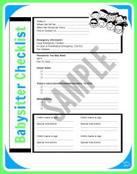 babysitter information sheet printable tips for keeping kids safe with a babysitter printable babysitter
