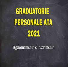 Indizione della procedura di aggiornamento delle graduatorie di circolo e  di istituto di terza fascia del personale ATA –triennio scolastico 2021-23