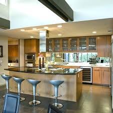 magnificent open kitchen island design inspiration of pictures with shelves and seating