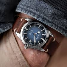 simple handmade italian leather watch strap