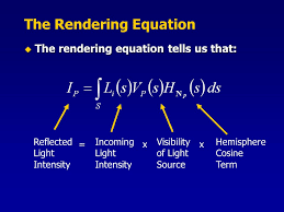 12 the rendering equation the rendering equation tells us that reflected light intensity incoming light intensity visibility of light source hemisphere