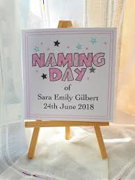 personalised naming day card for a naming ceremony celebration handmade custom greetings card blank inside 14 8 x 14 8cm by sweetpeapollyscrafts