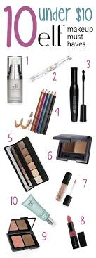 10 under 10 e l f makeup must haves