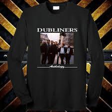 Details About The Dubliners Anthology Album Cover Logo Long Sleeve Black T Shirt Size S 3xl