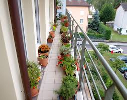Lawn & Garden:Awesome Apartment Balcony Garden Ideas With Metal Railing  Fence And Plastic Potted