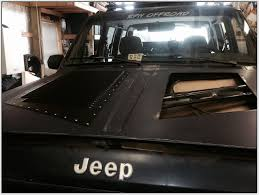 jeep xj hood vents install