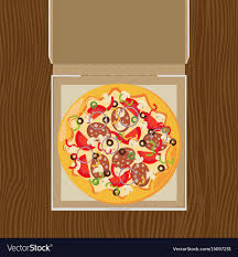 open pizza box with pizza. Brilliant Open Open Pizza Box Flat Style Design Vector Image Intended Pizza Box With I