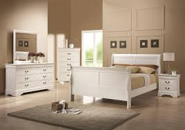 Beds: Louis Philippe Solid Wood White Bed
