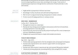 Resume Job Duties Examples Resume Of A Cook In A Restaurant Line Cook Resume Duties Sample Job 66
