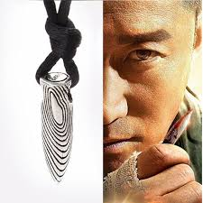 super cool bullet shape men women silver plated pendant necklace chain jewelry