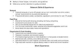 Resume For Cook Prep Cook And Line Cook Resume Samples Resume