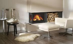 wood burning fireplace insert 3 sided double sided corner instyle ea