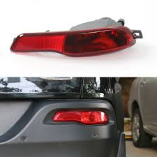 Jeep Cherokee Brake Light Bulb Red Lens Rear Bumper Reflector Fog Brake Light Right Side