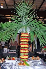 Pineapple Palm Tree Fresh Fruit Display  Parties  Food Displays Fresh Fruit Tree Display