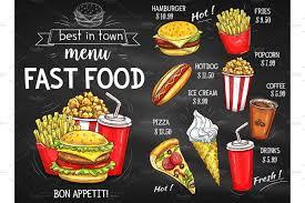 Design Fast Food Menu Fast Food Restaurant Menu Chalkboard Design Ad Affiliate