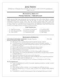 Resume Resume Sample For Pharmacy Assistant