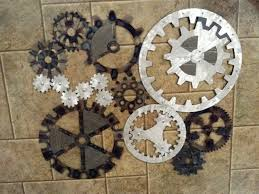 Industrial Wall Decor Gears Art Industrial Steampunk Wall Decor Made To Order