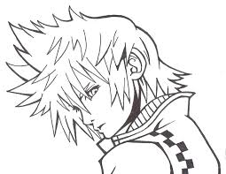 Small Picture Kingdom Hearts Axel Coloring PagesHeartsPrintable Coloring Pages