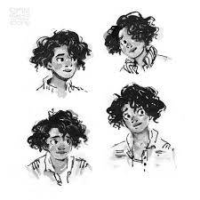 Rosemary Harper head studies for inktober, from The Long Way to a Small,  Angry Planet by Becky Chambers, whic… | Character illustration, Graphic  novel, Human figure