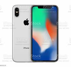 Silver Apple Iphone X Mockup Front View ...