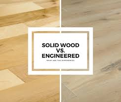engineered and solid wood
