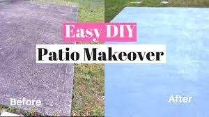 diy painting a concrete patio easy