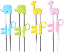 4 <b>Pairs</b> Training <b>Chopsticks</b> for <b>Children Kids</b> Beginners Easy Helper