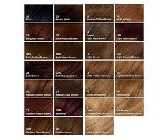 Medium Brown Hair Colour Chart Clairol Hair Color Chart World Of Reference