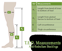 Calf Size Chart Compression Hosiery Sizing Guide