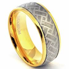 gold plated titanium wedding band. gold plated titanium wedding band d