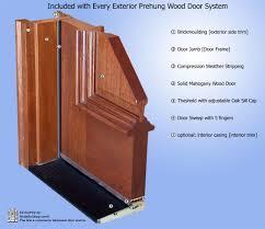 8ft Mahogany Glass Doors | Solid Mahogany Exterior Entry Doors