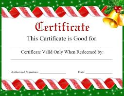 Printable Christmas Certificates printable Printable Christmas Voucher Template Gift Certificates 21