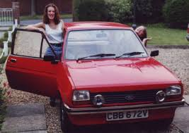 my first car little ford fiesta got me reddy for road latest  sarah kirk left and sister angela her mark i ford fiesta