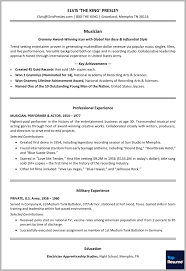 Resume Professional Summary Resume Makeover for Elvis Presley The King of Rock 'n' Roll 87